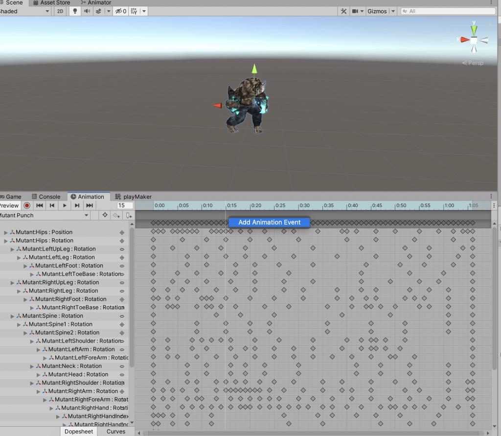 Adding an animation event