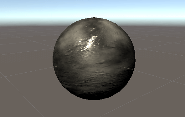 Sphere with the Dissolve material attached