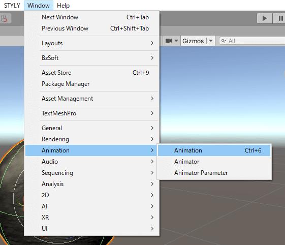 Display the Animation Window