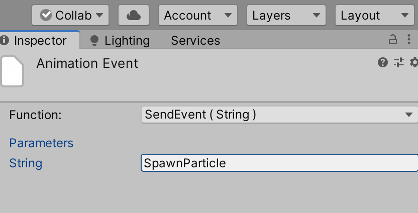 Specify the Event name
