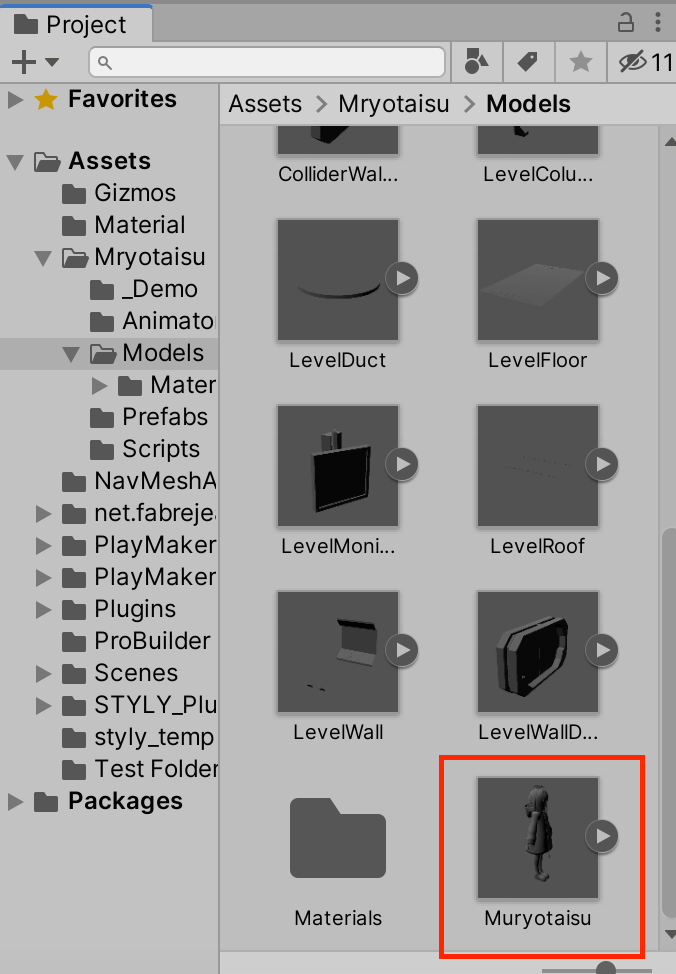 Where to store the fbx files
