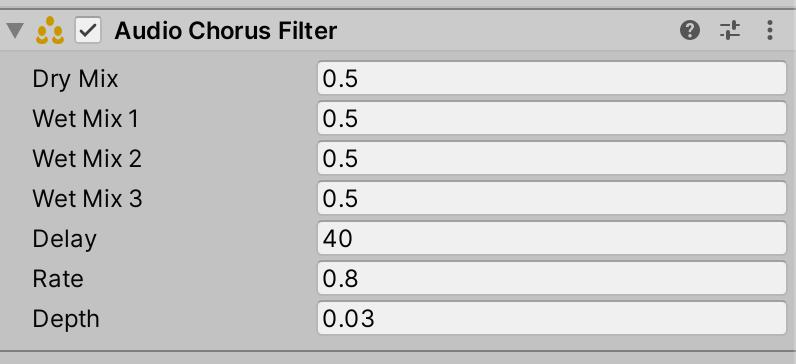 Audio Chorus Filter component