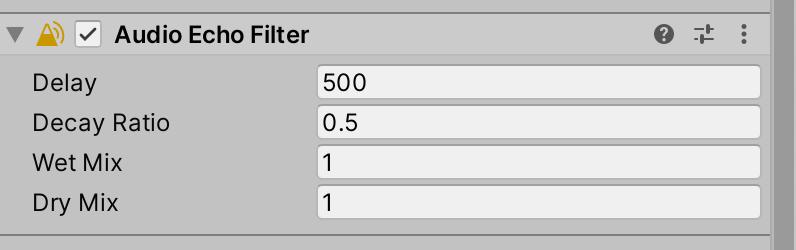 Audio Echo Filter Components