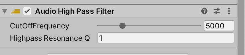Audio High Pass Filter component