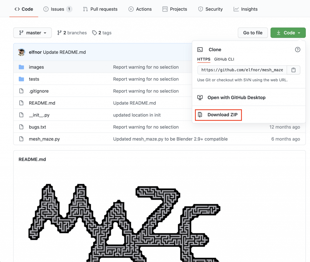 Code on the top right -> Download ZIP