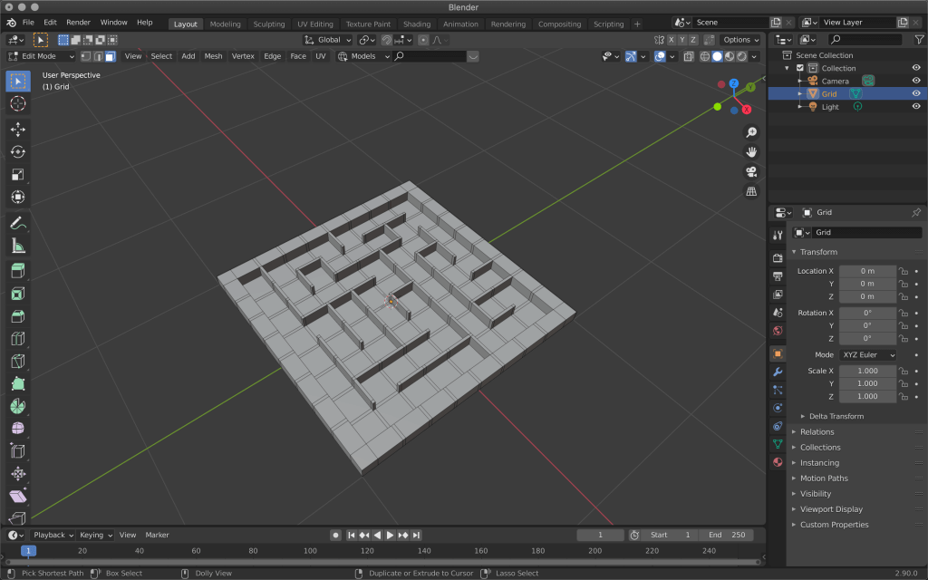 In no time at all, a maze has appeared