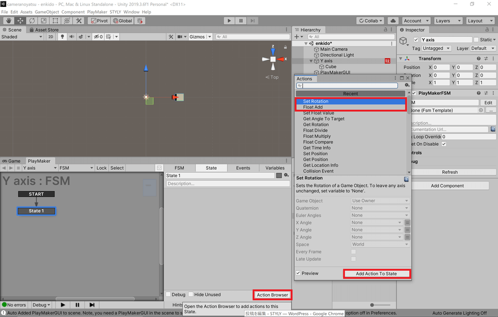 Add Float Add and Set Rotation