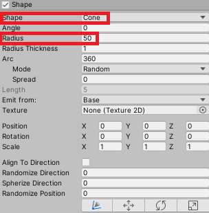 Editing the Shape Module