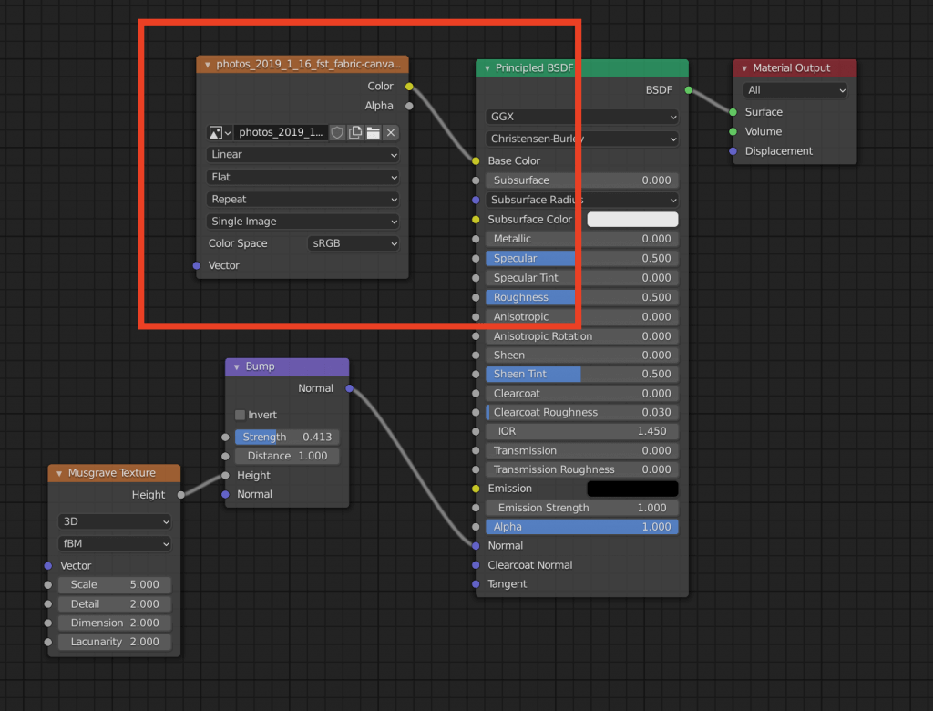 Add an Image Texture for the cloth