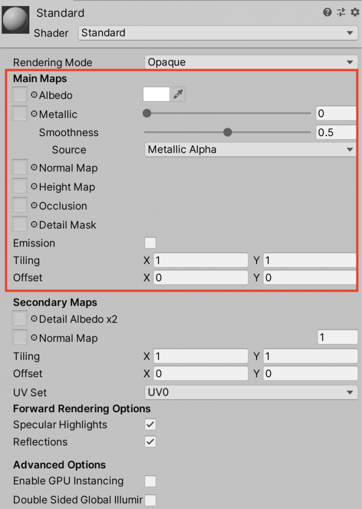 Main Mapsを設定する