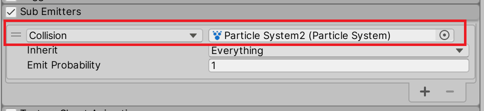 Setting up Particles to fire on collision