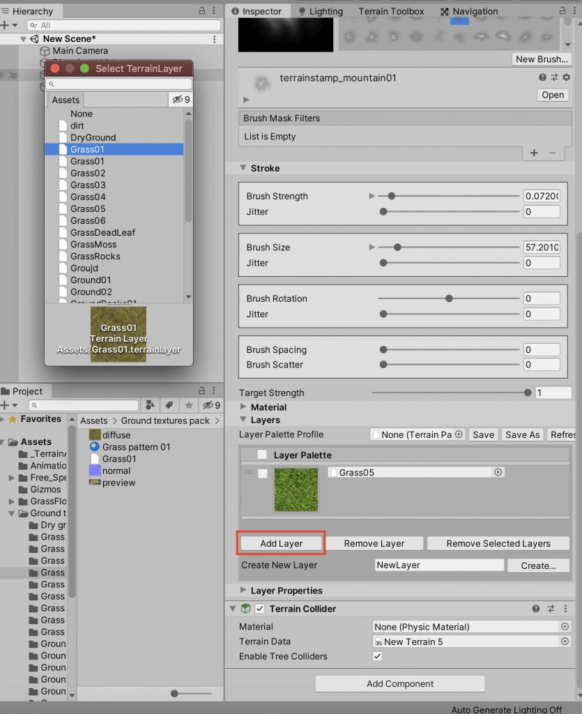 Adding a Terrain Layer
