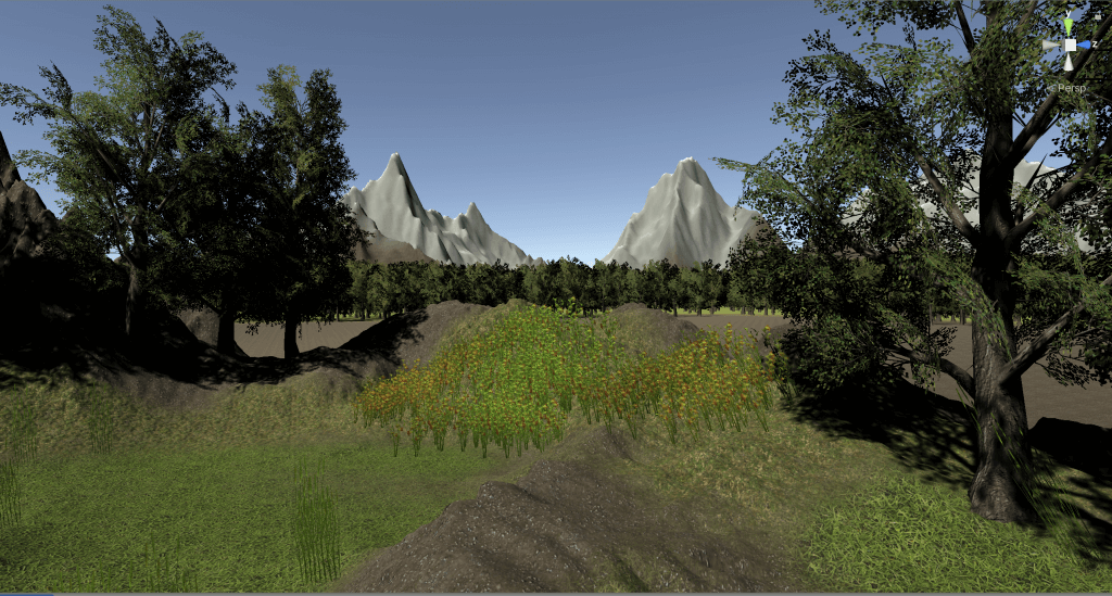 Adding flowers and grass to the scene