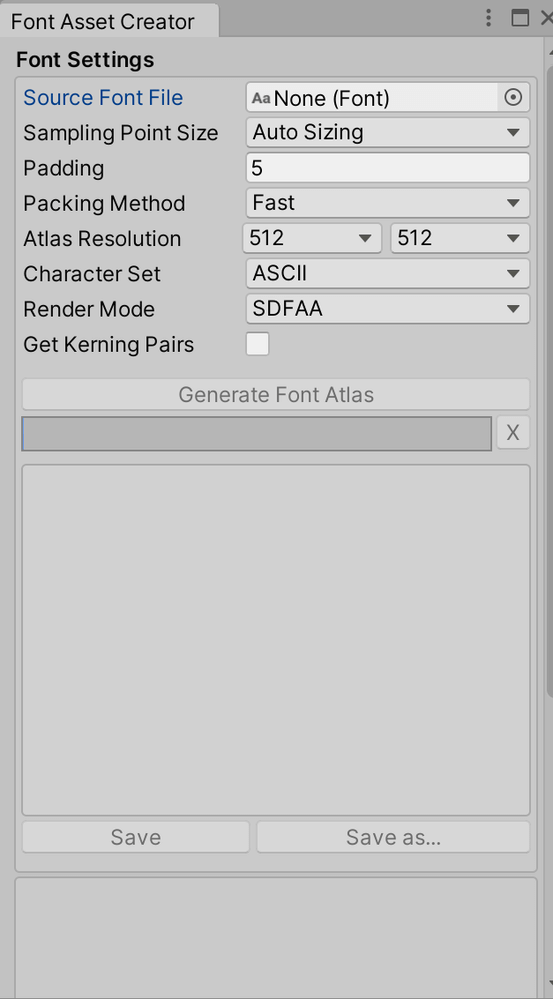 Font Asset Creator