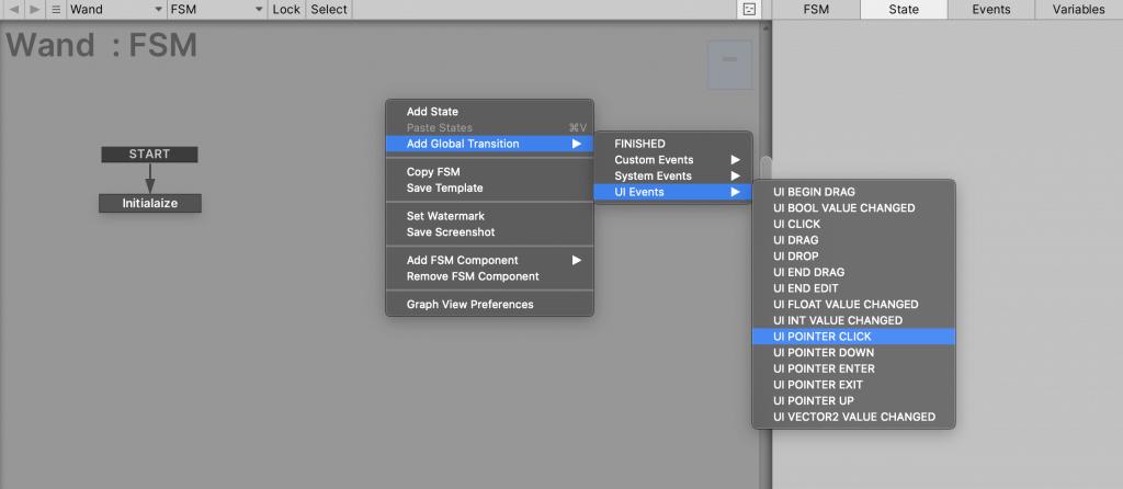 UI POINTER CLICKのTransitionを追加