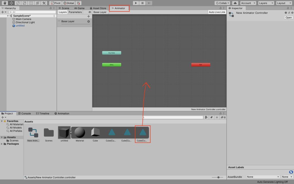 Adding an animation to the Animator