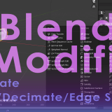 [Introduction to Blender] Using modifier tools (2) Generate (Build/Decimate/Edge Split)