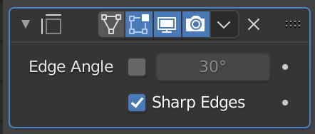 "Check ""Sharp Edges""."