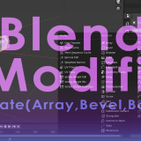 [Introduction to Blender] Using modifier tools (1) Introduction – Generate(Array/Bevel/Boolean)