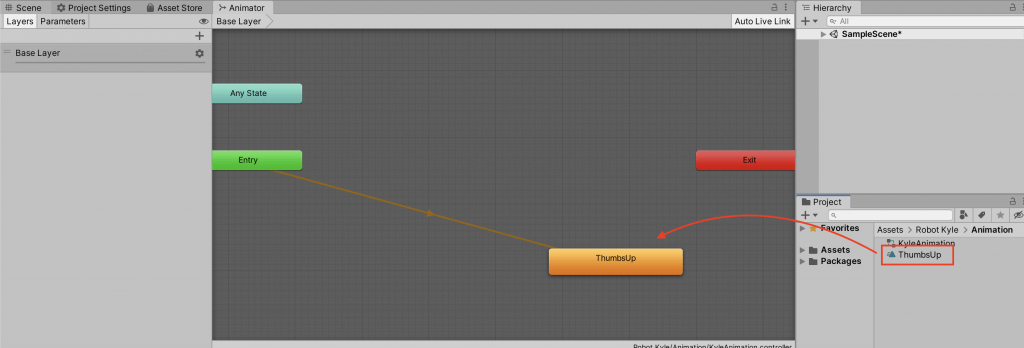 Add animation to Animator