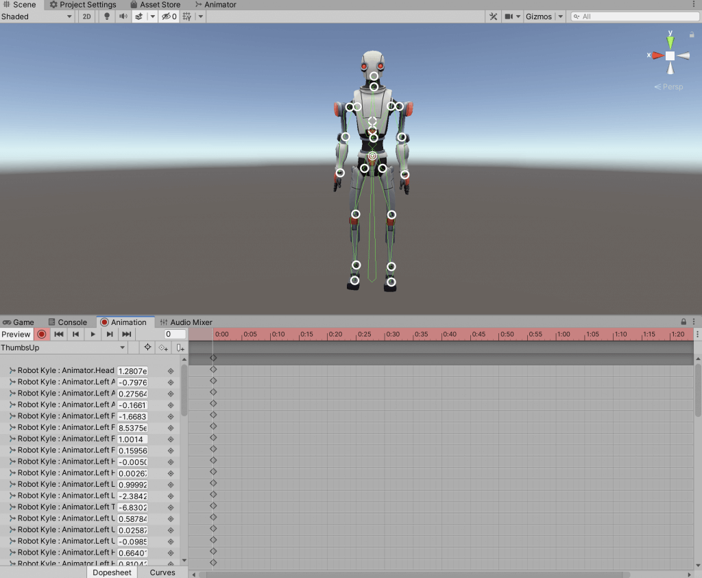 Creating a Standing Pose