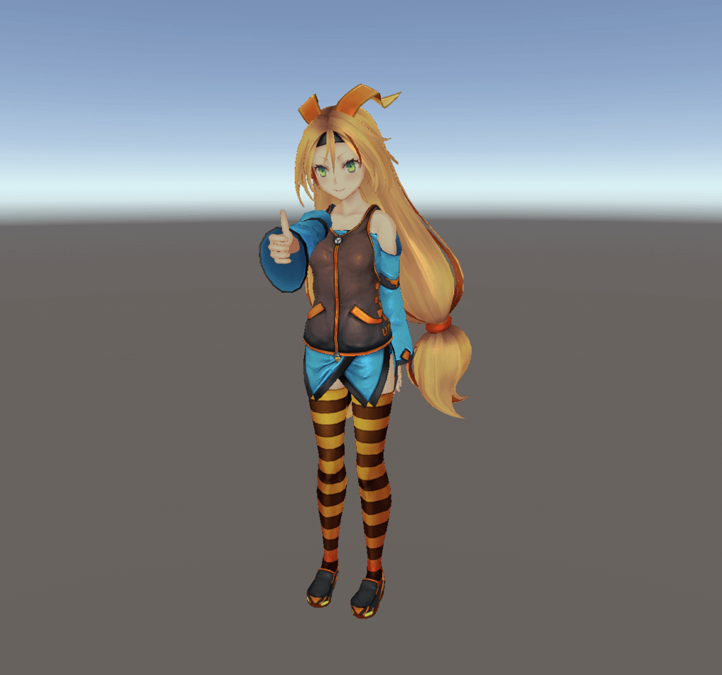 Thumbs up with Unity-chan