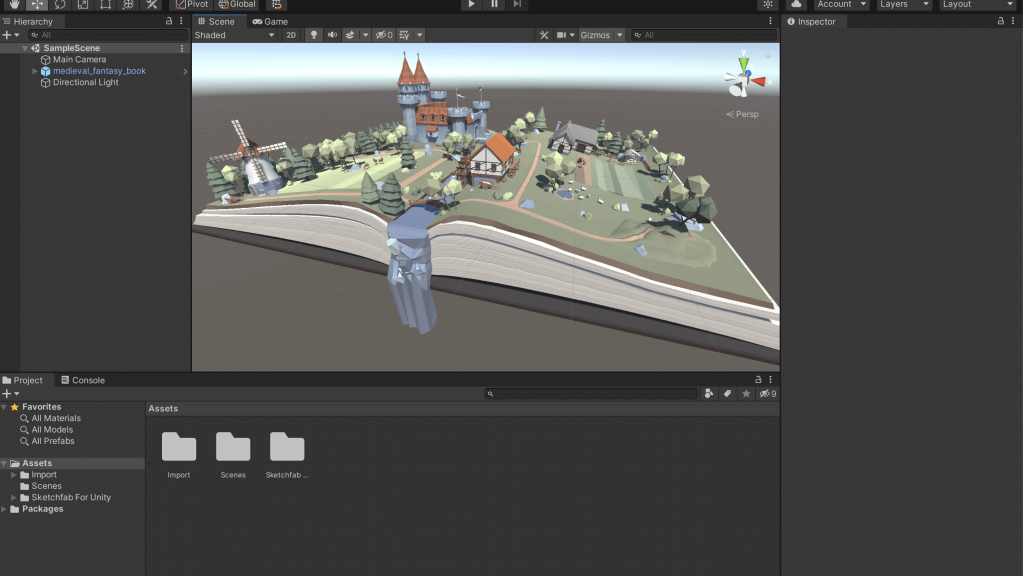 Your model has been imported into unity!