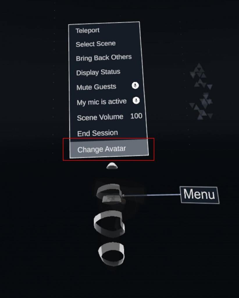 Select Menu → Change Avatar.