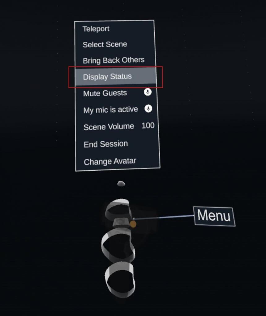 Select Menu→Display Status