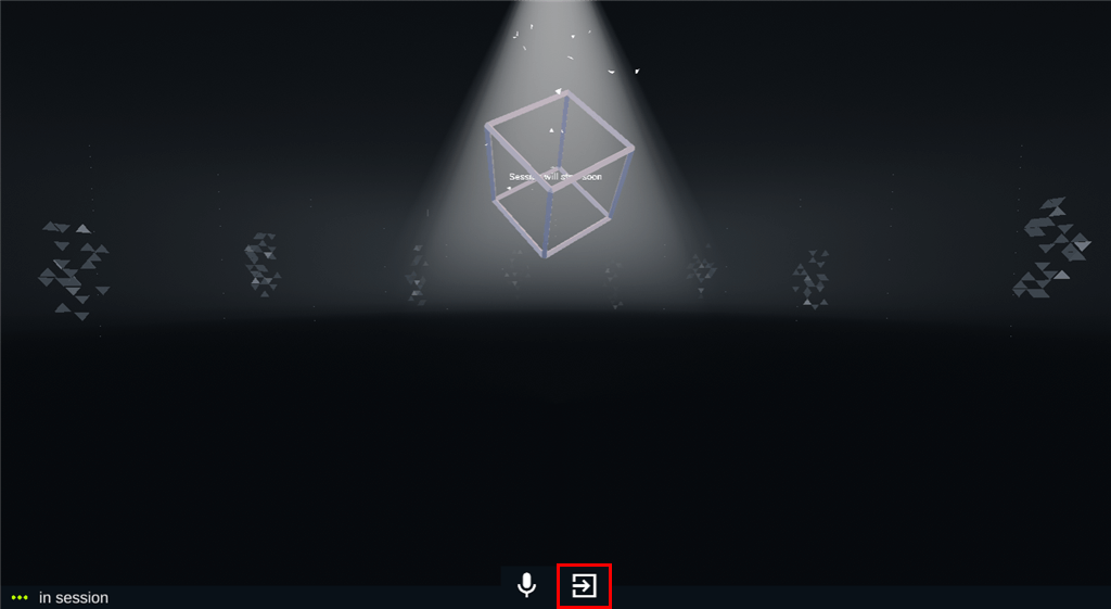 Click on the Exit icon.